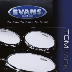 """evans tompack g2 clear fusion (10"""",12"""",14"""") 2 capa"""