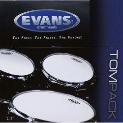 """Evans tompack g2 clear rock (10"""",12"""",16"""") 2 capas"""