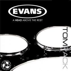 "Evans tompack onyx coated fusion (10"".12"".14"") 2 c"