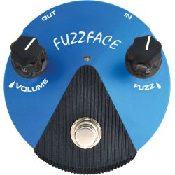 dunlop fx silicon fuzz face distorsion mini azul