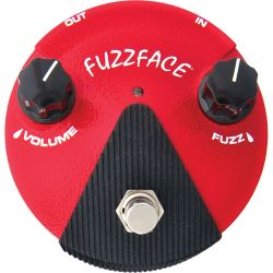 dunlop fx germanium fuzz face distorsion mini rojo