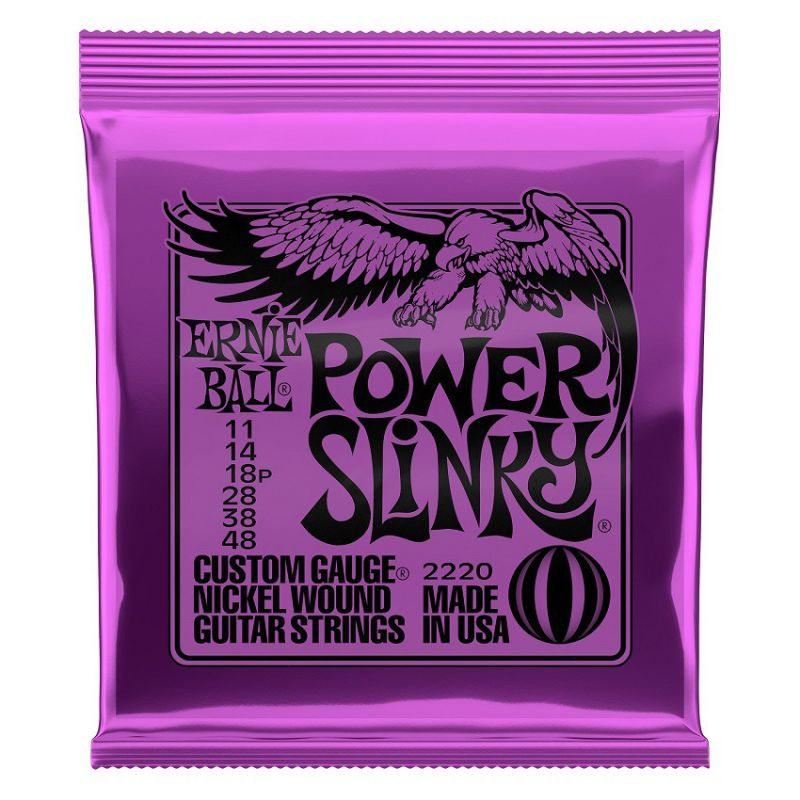 ernie ball power slink violeta 11-48(juego de cuerdas) - EB2220