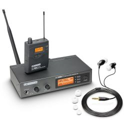ld systems mei 1000 g2 b 5 - sistema de monitoraje inalámbrico in-ear banda 5 584 - 607 mhz