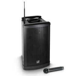 ld systems roadman 102 b 5 - altavoz de pa portátil con micrófono de mano