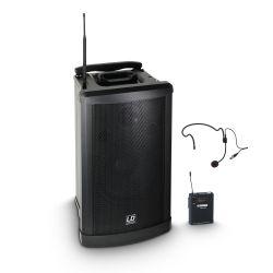 ld systems roadman 102 hs b 5 - altavoz de pa portátil con micrófono de mano