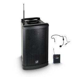 ld systems roadman 102 hs b 6 - altavoz de pa portátil con micrófono de mano