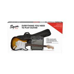 Compra Pack Guitarra Electrica Squier Stratocaster Brown Sunburst + FRONTMAN 10G al mejor precio