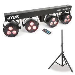 Max LED PARBAR CON 4 FOCOS 3x 4 EN 1 RGBW