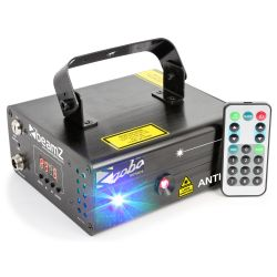 Beamz anthe ii doble laser 600mw rgb gobo dmx irc