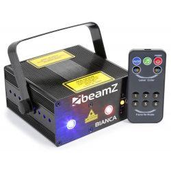 beamz bianca doble laser 330mw rgb gobo irc