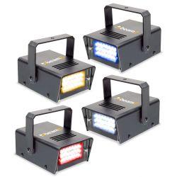 conjunto de 4 mini led estroboscopios rybw
