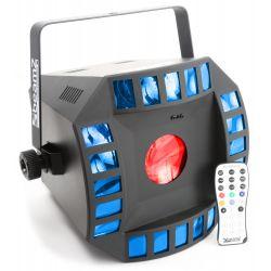 beamz cub4 ii led 2 x 10w quad + 64 rgb dmx ir mando