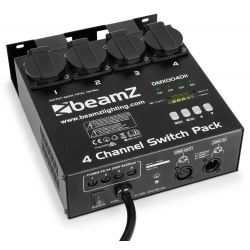 beamz panel de interruptores dmx512 4 canales