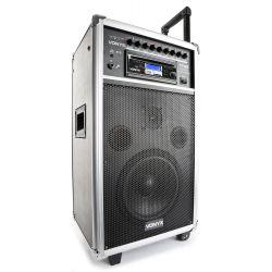 vonyx st100 mk2 sistema portatil 8 bt/cd/mp3/uhf