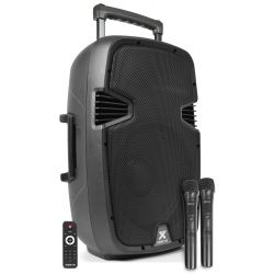 Vonyx SPJ-PA912 Bafle Movil activo ABS 12 2 micros UHF/USB/MP3