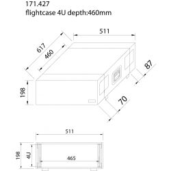 power dynamics maleta de transporte para equipos 19'- 4u