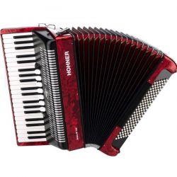 hohner acordeon bravo III 120 rojo
