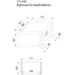 """power dynamics maleta de transporte para equipos 19"""" - 6u"""