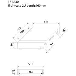 power dynamics pd-f2u maleta de transporte para equipos 19'- 2u