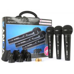 Vonyx vx1800s microfono dinamico set 3pcs