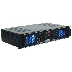 skytec spl 300mp3 amplificador con leds azules eq negro