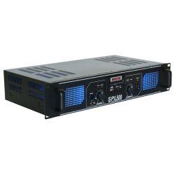 skytec spl 500mp3 amplificador con leds azules + eq negro