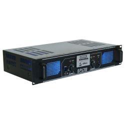 skytec spl 700mp3 amplificador con leds azules + eq negro