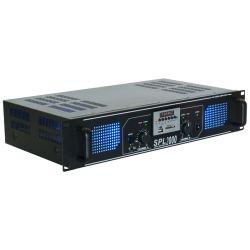 skytec spl 2000mp3 amplificador con leds azules + eq negro