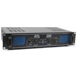 skytec amplificador 2x 1000w con ecualizador - spl2000eq