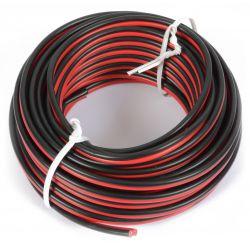 pd connex cable universal rojo & negro 10m 2x 0.75mm