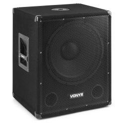 Vonyx SMWBA15MP3 Subwoofer Bi-AMP 15 pulgadas/600W y Bluetooth