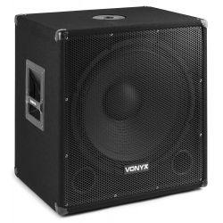 Vonyx SMWBA18MP3 Subwoofer Bi-AMP 18pulgadas/1000W y Bluetooth