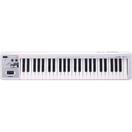 roland a-49-wh teclado