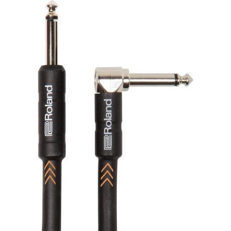 Compra roland ricb10a cable jack acodado 6.3 jack recto 6.3 3m al mejor precio