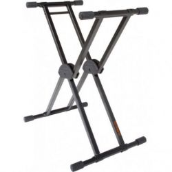 ROLAND Double brace keyboard X-stand