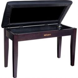 ROLAND RPBD-100RW Duet Piano Bench, Rosewood, with storage compartment