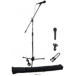 EK Audio MS1 set microfono de mano con soporte, pinza, cable y funda