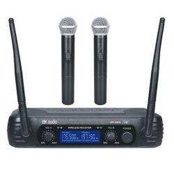 EK AUDIO Dos Micrófonos Inalambricos de mano EK audio Sistema WR-69LD VHF