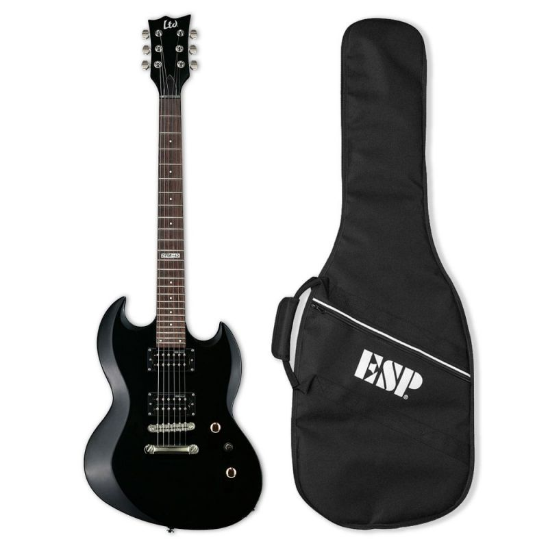 LTD viper10 KIT BLK Guitarra Electrica con Funda