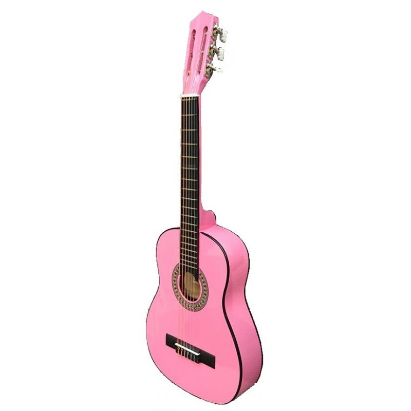 Compra guitarra clásica rocio 10 rosa al mejor precio