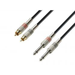 ADAM HALL CABLE 2 RCA 2 JACK 6.3 6M