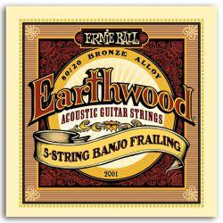 Ernie Ball JUEGO BANJO EARTHWOOD FRAILING 5 STRINGS 10-24/10