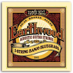 Ernie Ball JUEGO BANJO EARTHWOOD BLUGRASS 5 STRINGS 9-20/9