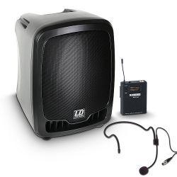 ld systems roadboy 65 hs b5 - altavoz de pa portátil con micro de diadema