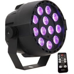 IBIZA LIGHT PAR-MINI-RGB3 Foco LED 12 x 3W / 7 canales DMX y mando a control