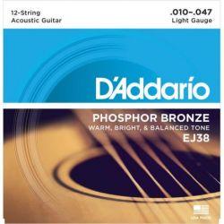 Daddario EJ38 - PHOSPHOR BRONZE LIGHT 12 STRING [10-47]