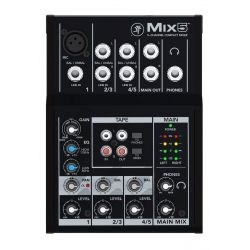 mackie mix5 mezclador de 5 canales