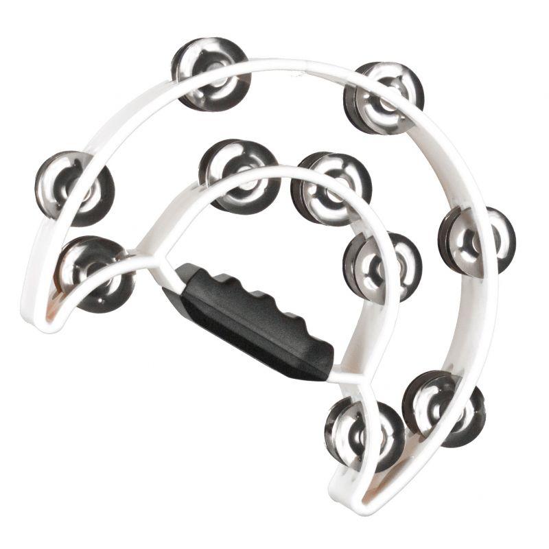 Compra JINBAO Pandereta Media Luna (Doble) blanca al mejor precio
