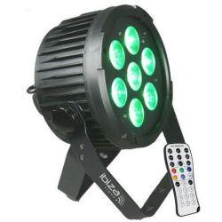 Ibiza PAR LED 712IR Proyector LED RGBWH-UV