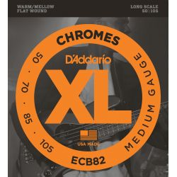 daddario ecb82 chromes bass, medium, long scale [50-105]